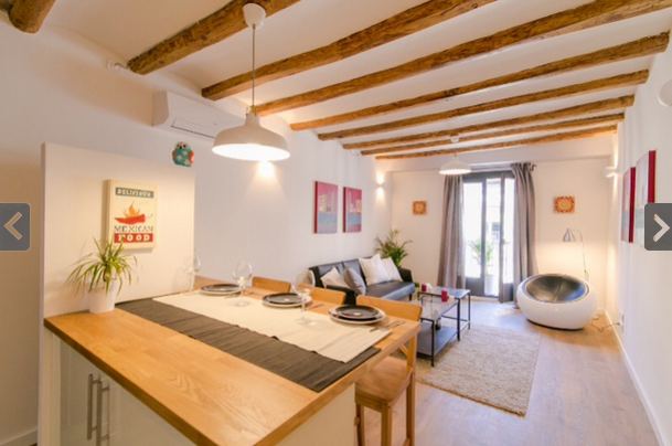 Ad- Flat for rent 2 bedrooms Ramblas
