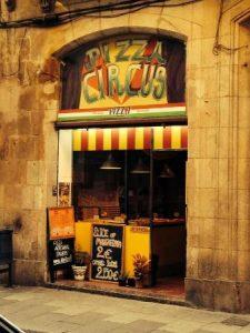 Top 5 Best Pizzas & Italians in Barcelona pizza circus 225x300