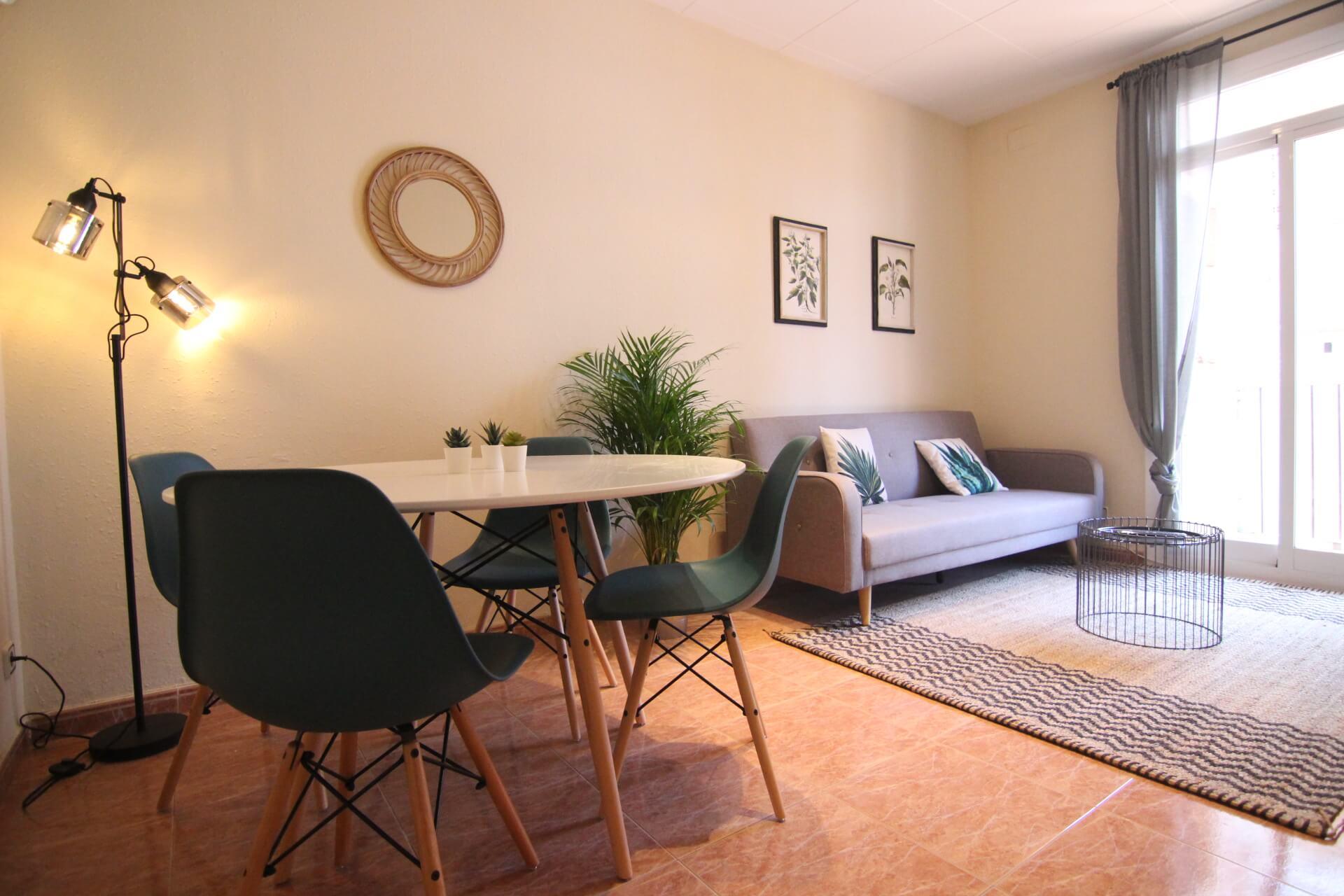 Marché Hostafrancs- Sants – calle Aliga 2 chambres