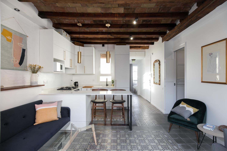 Bonito piso reformado 2 habitaciones dobles Sants