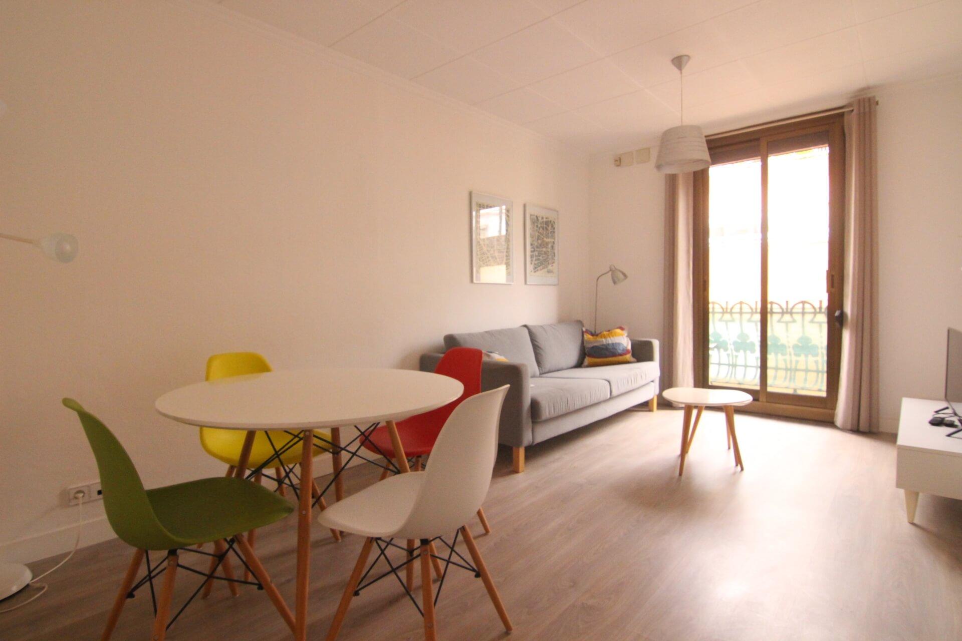 Location deux chambres doubles calle ricart poble sec